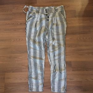 Free People tapered striped linen pants